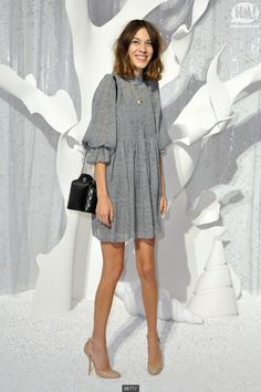Chanel show, Paris fashion week. I love the dress and shoes.