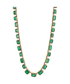 St. Patrick's Day Necklace in gold with emeralds, JUDY GEIB – DuJour