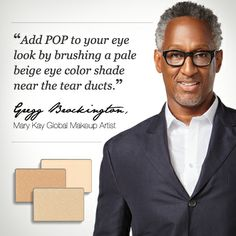 Try this #BeautyTip from Mary Kay Global Makeup Artist Gregg Brockington with Mary Kay® Mineral Eye Color in Crystalline, Moonstone, or Honey Spice! www.marykay.com/graceball/