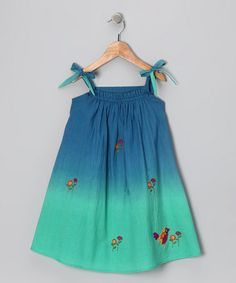 Take a look at this Blue Ombré Embroidered Dress - Infant, Toddler & Girls by Sugar by Cupcakes & Pastries on #zulily today!