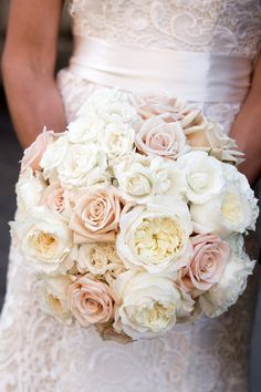 Surprise Wedding at Blue Hill Farm Blush Bouquet, Flower Bouquet Wedding, Floral Wedding, Garden Rose Bouquet, Garden Roses, Flower Bouquets, Purple Wedding, Surprise Wedding, Dreams