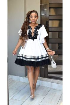 Short African Dresses, Latest African Fashion Dresses, African Print Dresses, African Print Fashion, Sotho Traditional Dresses, South African Traditional Dresses, Traditional Outfits, Xhosa Attire, African Attire