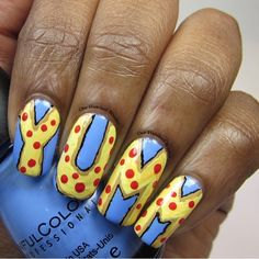 """Food I love for #clairestelle8feb #nailchallenge We're big pizza lovers in our house so my kids flipped out for this mani. Have a great day!  I used: @sinfulcolors_official """"Sail La Vie"""" @glistenandglow1 HK Girl Top Coat Assorted acrylic paint  #100brushes  #nails #nailpolish #notd #polishlicious #nailedit#nailitdaily #instanails #nailsoftheday #nailporn #nailswag #lovenails #showmethemani #featuremynails #nailprodigy #looknaildecor #nailpromote  #nailfeature #nails2inspire…"""