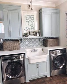 51 Fuctional Farmhouse Laundry Room Decor Ideas