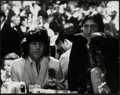 Mick Jagger and John Lennon at Studio 54