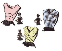 40s Womens Blouses Vintage Sewing Pattern by allthepreciousthings, $14.00