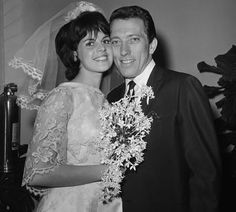 Andy Williams & Claudine Longet wedding~Longet and Williams met in Las Vegas in 1960 when she was 18 and he was 32. Longet was experiencing problems with her car and had pulled over to the side of the road. Driving by, Williams stopped to offer assistance. She was the lead dancer of the Folies Bergère revue at the Tropicana Resort & Casino. They married on 15 December 1961 in Los Angeles, and had three children. separated in 1970 & divorced in January 1975.