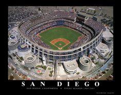 Jack Murphy Stadium a/k/a Qualcomm Stadium; saw the Padres play here including Tony Gwynn.  Not sure of the name of the stadium when I saw them play.