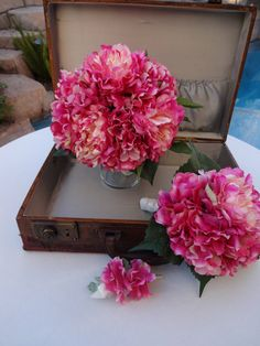 3 PIECE Package Pink peonies and hydrangea by AlwaysElegantBridal, $125.00