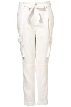 Utility Style Linen Trousers