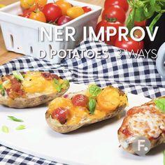 Baked Potatoes 3 Ways