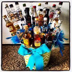 Fun item for a fraternity auction. Whiskey, cigars & snacks in a ...