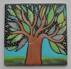 FUNKELBÄUMCHEN von Herbivore11 Inchie Baum Bäume Minibild kleine Kunst sammeln