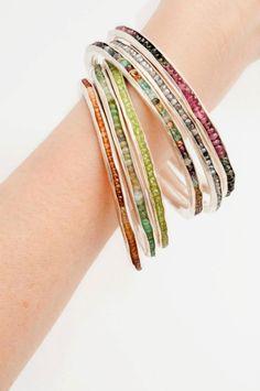 Gemstone Bangles - Judy Parady Studio Jewelry - Student portfolio