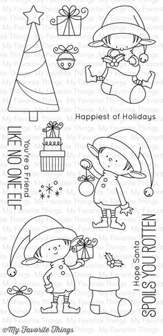 My Favorite Things Clear Stamp - BB Santa's Elves ~ $17.99 at franticstamper.com