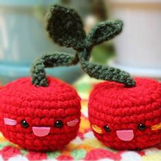Download Cherries Amigurumi Pattern (FREE)