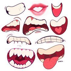 """zamiiz:  """" i drew mouths as a warm up  """""""