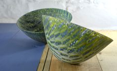 Expansion (duo) - kiln formed glass vessels - Amanda Simmons
