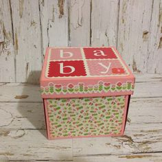 Baby Exploding Box Card by Greeting Grub Cards, made using Kaisercraft Little One collection