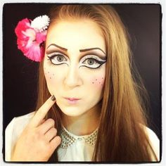 Maquillaje muñeca japo