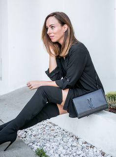Sydne Style reviews ysl kate bag in black Ysl Kate Bag, Black Knees, Street 3beceaafc7