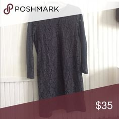 Madewell long sleeve lace dress Long sleeve lace dress in perfect condition. Madewell Dresses Midi