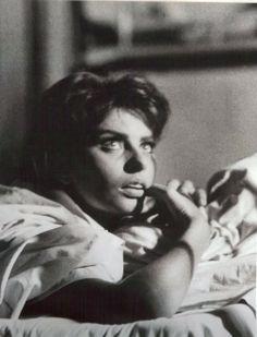 Those eyes!  Sophia Loren, 1950s, photo by Yul Brynner.   viailoveyulbrynner
