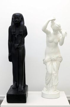 """burntcake:  Fred Wilson. """"The Mete of the Muse"""". 2004-2007. Bronze with black patina and bronze with white paint.  http://www.pbs.org/art21/artists/fred-wilson"""