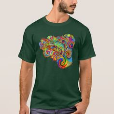 Psychedelizard  psychedelic chameleon T-shirt on Zazzle by Rebecca Wang
