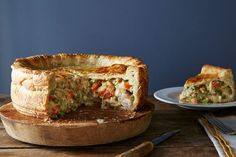 Deep Dish Pot Pie add marjaram, celery spice, .5 cup sharp cheddar