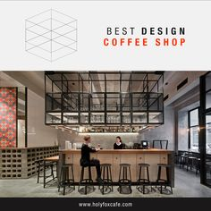 """Today in our Best Design section we show you the """"Coffee Shop Holy Fox"""" in Moscow."""