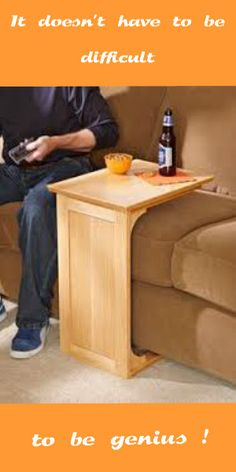I try to discourage my family from eating/drinking on the furniture, but this would work well with a sectional sofa.