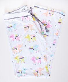 PJ Salvage Colorful Elephant Pant