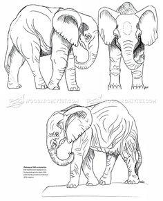 Sculpture en éléphant africain - Sculpture en bois