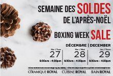 Boxing Week Sale / Semaine des soldes de l'Après-Noël Visit our showroom and take advantage of great rebates / Visitez notre salle d'exposition et profitez de rabais exceptionnels. #boxingweeksales#royalceramics#sales#montrealsales#boxingday