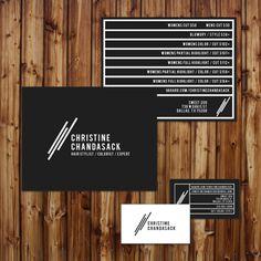branding + logo + stationary +  contemporary + black + white