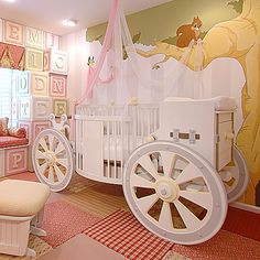 Remarkable Posh Tots Baby Furniture For Kids Bedroom Decoration: Cool Baby Cribs From Poshtots With Wall Decal And Wall Art And Tile Carpet…