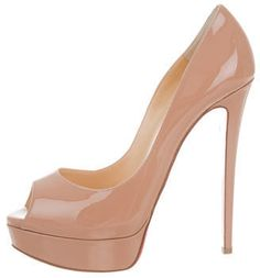 Christian Louboutin Patent Leather Lady Peep