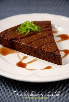 Ciasto czekoladowa trufla - tylko 3 składniki! (Chocolate Truffle Cake - only 3 ingredients! - recipe in Polish)