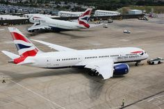 British Airways B787 outside TBJ/K at BA's engineering base