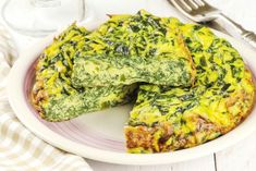 Add scallions, spinach and feta cheese to this classic oven-baked egg dish for a healthy frittata you can serve for breakfast, lunch, brunch or dinner. High Protein Recipes, Healthy Breakfast Recipes, Low Carb Recipes, Cooking Recipes, Healthy Recipes, Diet Breakfast, Breakfast Ideas, Breakfast Frittata, Nutritious Breakfast