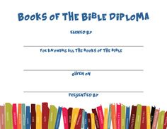 Books of the Bible Diploma