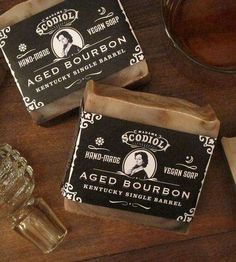 Bathroom Soap Bathroom Soap - For the men out there looking for a more masculine bathroom soap to use, these bourbon-scented soap bars might be just what you're looking fo. Branding And Packaging, Soap Packaging, Packaging Design, Savon Soap, Mens Soap, Diy Inspiration, Vegan Soap, Lotion Bars, Cold Process Soap