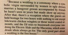 Best description of a wedding ever