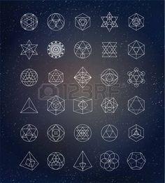 Heilige Geometrie. Alchemie, Spiritualit�t Symbole photo