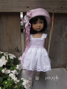 "Smocked Lilac for Dianna Effner Little Darlings 13"" Studio Dolls by pixxells"