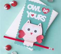 Free Owl Valentine Card Project