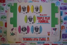 Burger Chef Triple Play Funmeal Tray by mandtsimplyvintage on Etsy, $8.00