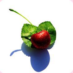 Glitter Cherry Hairclip