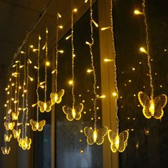 Christmas Tree Hanging Led Butterfly String Light Shape: Fruit Power Source: Dry Battery Voltage: Model Number: Decoration Bulbs Plug Type: None Led Curtain Lights, Led String Lights, Led Fairy Lights, White Butterfly, Butterfly Design, Night Lamps, Ceiling Lamp, As You Like, Lamp Light